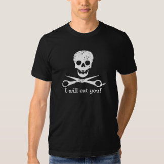 Beauty Shop Pirate_Distressed_White T Shirt