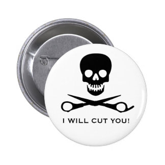 Beauty Shop Pirate Pinback Button