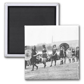 Beauty Show Glamour Girls Vintage 1922 2 Inch Square Magnet