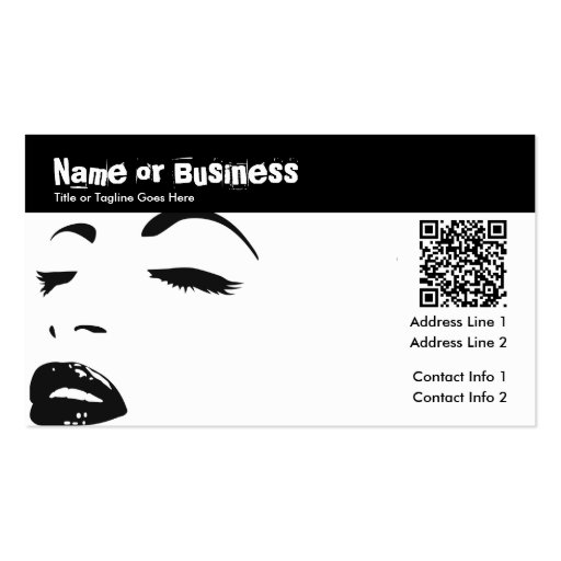 beauty silhouette : QR code Business Card