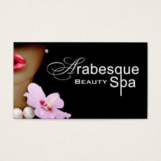 Beauty Spa Arabesque Hair Stylist Business Card