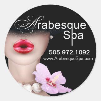 Beauty Spa Arabesque Product Classic Round Sticker