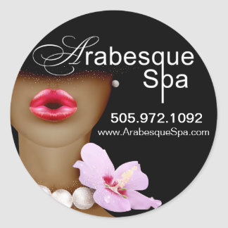 Beauty Spa Arabesque Product Round Sticker