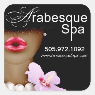 Beauty Spa Arabesque Product Square Sticker