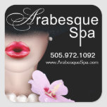 Beauty Spa Arabesque Product Square Sticker