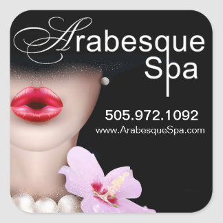 Beauty Spa Arabesque Product Square Stickers