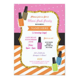 beauty spa birthday party pamper mani pedi invite - Pamper Party Invitations