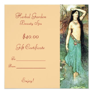 Beauty Spa Gift Certificates Card
