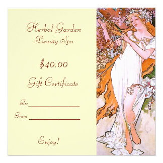 Beauty Spa Gift Certificates Personalized Announcement