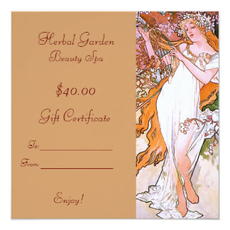 Beauty Spa Gift Certificates Invitation