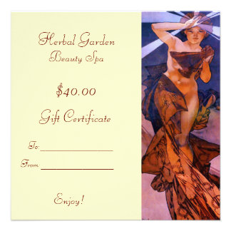 Beauty Spa Gift Certificates Announcements