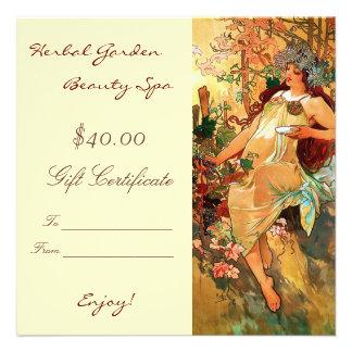 Beauty Spa Gift Certificates Custom Invites