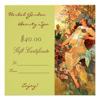 Beauty Spa Gift Certificates Custom Announcement