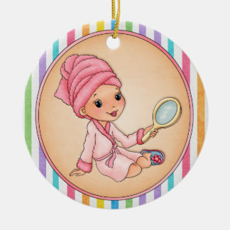 Beauty - Spa - SRF Double-Sided Ceramic Round Christmas Ornament
