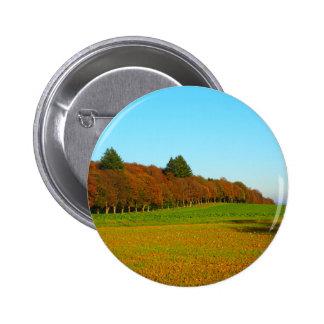 Beauty strange golden trees 2 inch round button