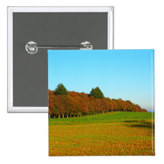 Beauty strange golden trees 2 inch square button