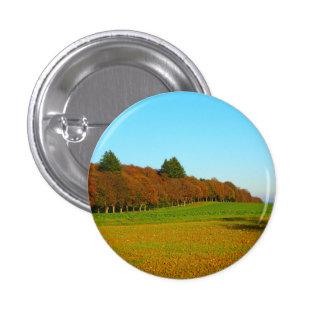 Beauty strange golden trees 1 inch round button