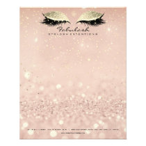 Beauty Studio Lashes Makeup Stylist Gold Blush1 Flyer