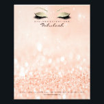 "Beauty Studio Lashes Makeup Stylist Gold Peach Flyer<br><div class=""desc"">Elegance and Simplicity  florenceK design</div>"