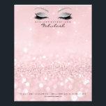 "Beauty Studio Lashes Makeup Stylist Silver Pink Flyer<br><div class=""desc"">Elegance and Simplicity  florenceK design</div>"