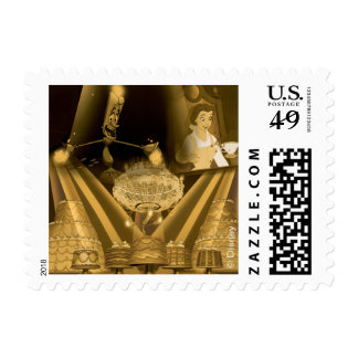 Beauty & The Beast | A Golden Collage Postage