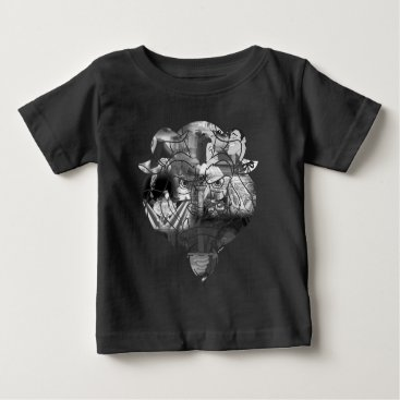 Disney Themed Beauty & The Beast | B&W Collage Baby T-Shirt