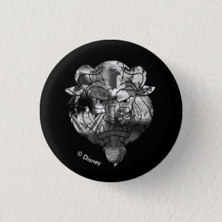 Beauty & The Beast | B&W Collage Button