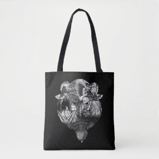 Beauty & The Beast | B&W Collage Tote Bag
