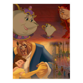 Beauty & The Beast | Beautiful Ballroom Postcard