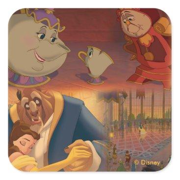 Disney Themed Beauty & The Beast   Beautiful Ballroom Square Sticker