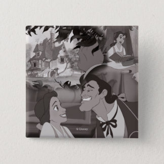 Beauty & The Beast | Belle & Gaston Pinback Button