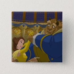 Beauty & The Beast   Belle & The Beast Dancing Pinback Button