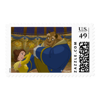 Beauty & The Beast | Belle & The Beast Dancing Postage