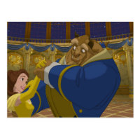 Beauty & The Beast | Belle & The Beast Dancing Postcard
