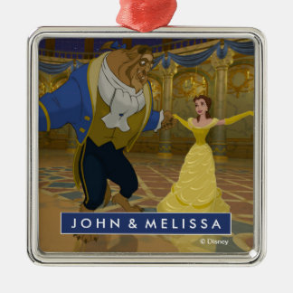 Beauty & The Beast | Dancing in the Ballroom Metal Ornament