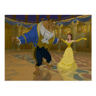 Beauty & The Beast | Dancing in the Ballroom Postcard