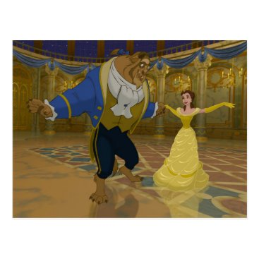 Disney Themed Beauty & The Beast | Dancing in the Ballroom Postcard