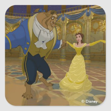 Disney Themed Beauty & The Beast   Dancing in the Ballroom Square Sticker