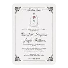 Beauty & The Beast   Enchanted Rose Wedding Card at Zazzle