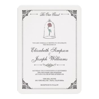 Beauty & The Beast | Enchanted Rose Wedding Card by disney at Zazzle