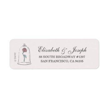 Beauty & The Beast | Enchanted Rose Wedding Label by disney at Zazzle