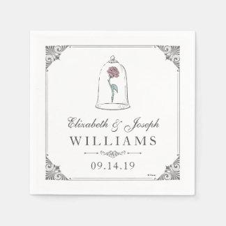 Beauty & the Beast | Enchanted Rose Wedding Paper Napkin