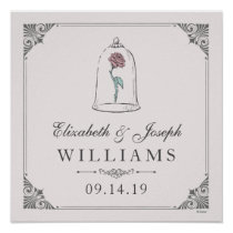 Beauty & the Beast | Enchanted Rose Wedding Poster