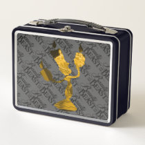 Beauty & The Beast | Lumière Silouette Metal Lunch Box