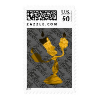Beauty & The Beast | Lumière Silouette Postage