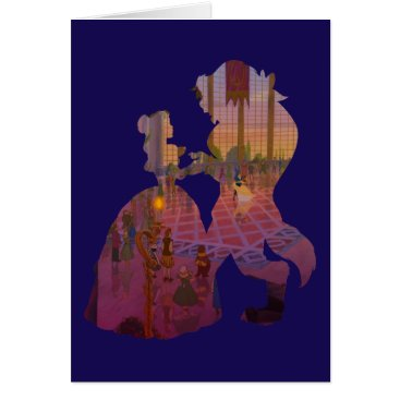 Disney Themed Beauty & The Beast | Silouette Dancing Card