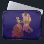 "Beauty &amp; The Beast | Silouette Dancing Laptop Sleeve<br><div class=""desc"">A silouette design of Belle &amp; the Beast dancing.</div>"