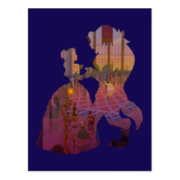 Disney Themed Beauty & The Beast | Silouette Dancing Postcard