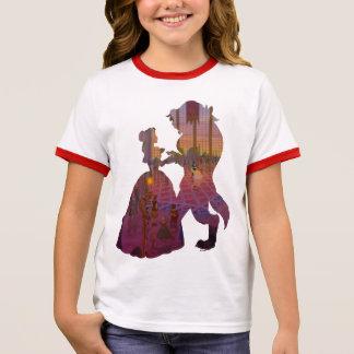 Beauty & The Beast   Silouette Dancing Ringer T-Shirt