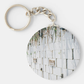 Beauty Themed, A Concrete Wall With Few Plates Nai Keychain